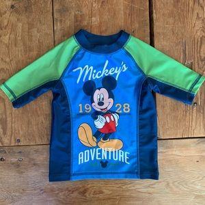 Other - Mickey Mouse Swim Shirt Rashguard Sz 3T Boy Girl
